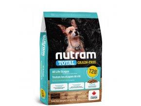 t28 nutram total grain free salmon trout dog bezobilne krmivo losos a pstruh pro psy malych plemen