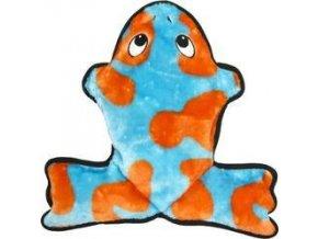 Žába se šesti pískátky - 33 cm - oranžovo-modrá  poslední kus