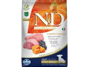 N&D Grain Free Pumpkin DOG Puppy Mini Lamb & Blueberry 7kg
