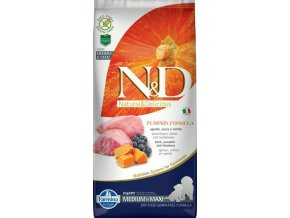 N&D Grain Free Pumpkin DOG Puppy M/L Lamb & Blueberry 12kg