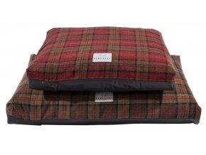Tartanový luxusní potah na matraci XL