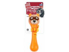 GiGwi Plush Friendz Mýval se šálou - oranžový