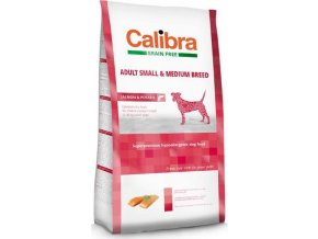 Calibra Dog GF Adult Medium & Small Salmon  12kg NEW  + 3kg ZDARMA!
