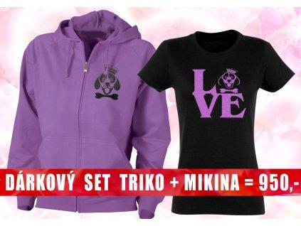 set mikina a triko loveb