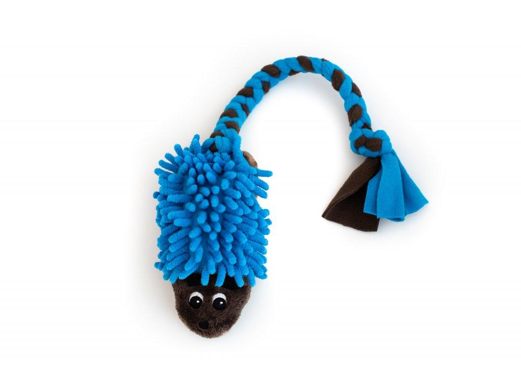 Plyšový ježek hnědo-modrý