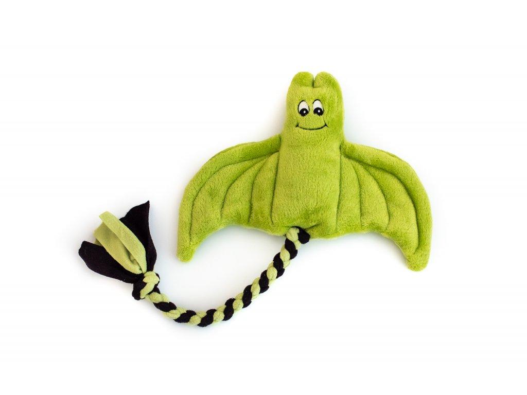 Plyšový netopýr velký zelený