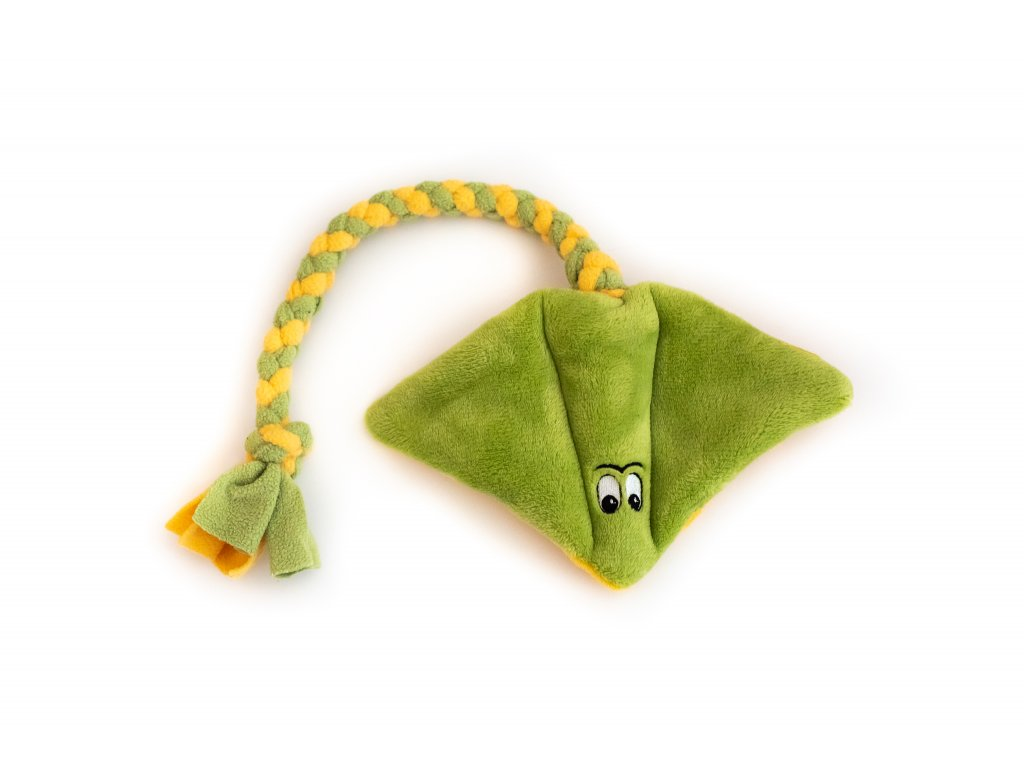 Plyšový rejnok velký zeleno-žlutý