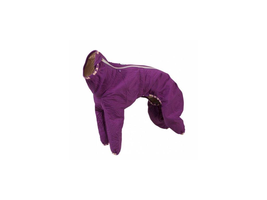 Obleček Hurtta Casual prošívaný overal fialový