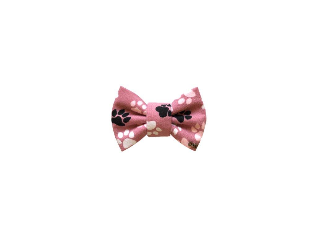 Funky Dog Motýlek Pac pac pacičky růžový