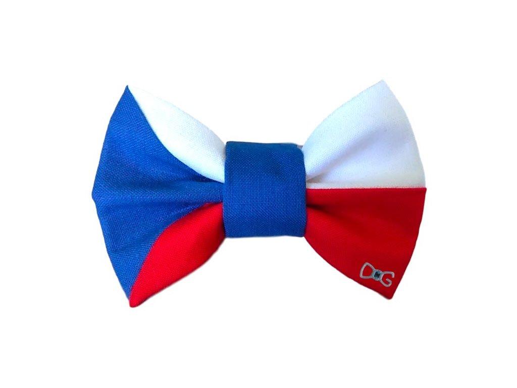 Funky Dog Motýlek česká vlajka