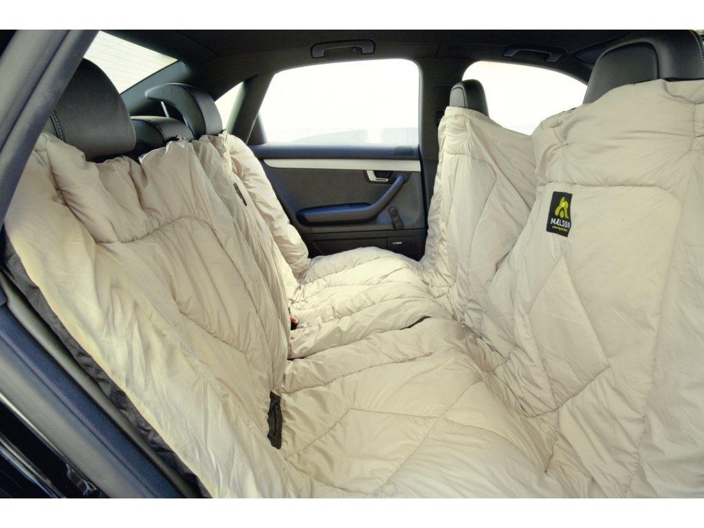 Maelson Cosy Roll cestovní deka + autopotah - černo-béžový - 200 x 150 cm