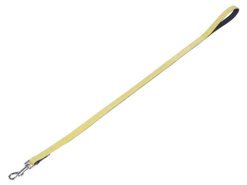 Nobby Velours vodítko ze semišové kůže světle zelená