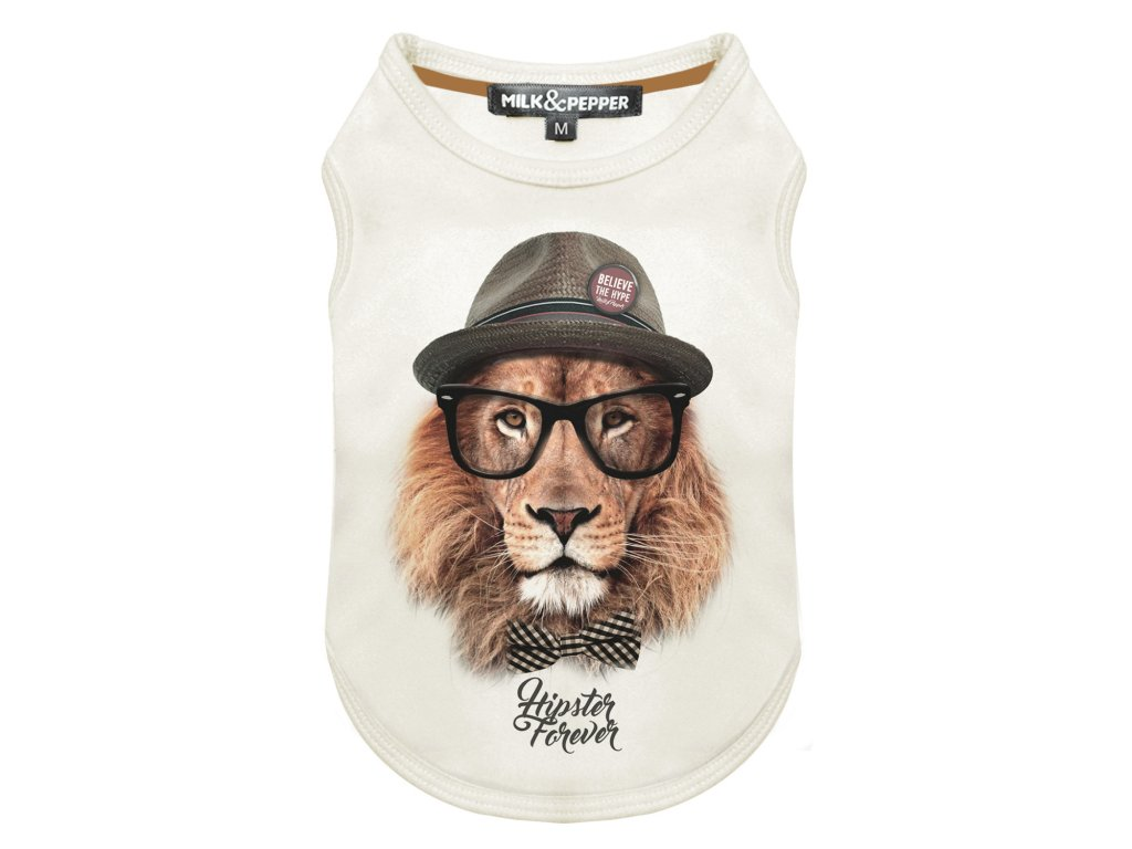Tričko pro psa Milk&Pepper se lvem