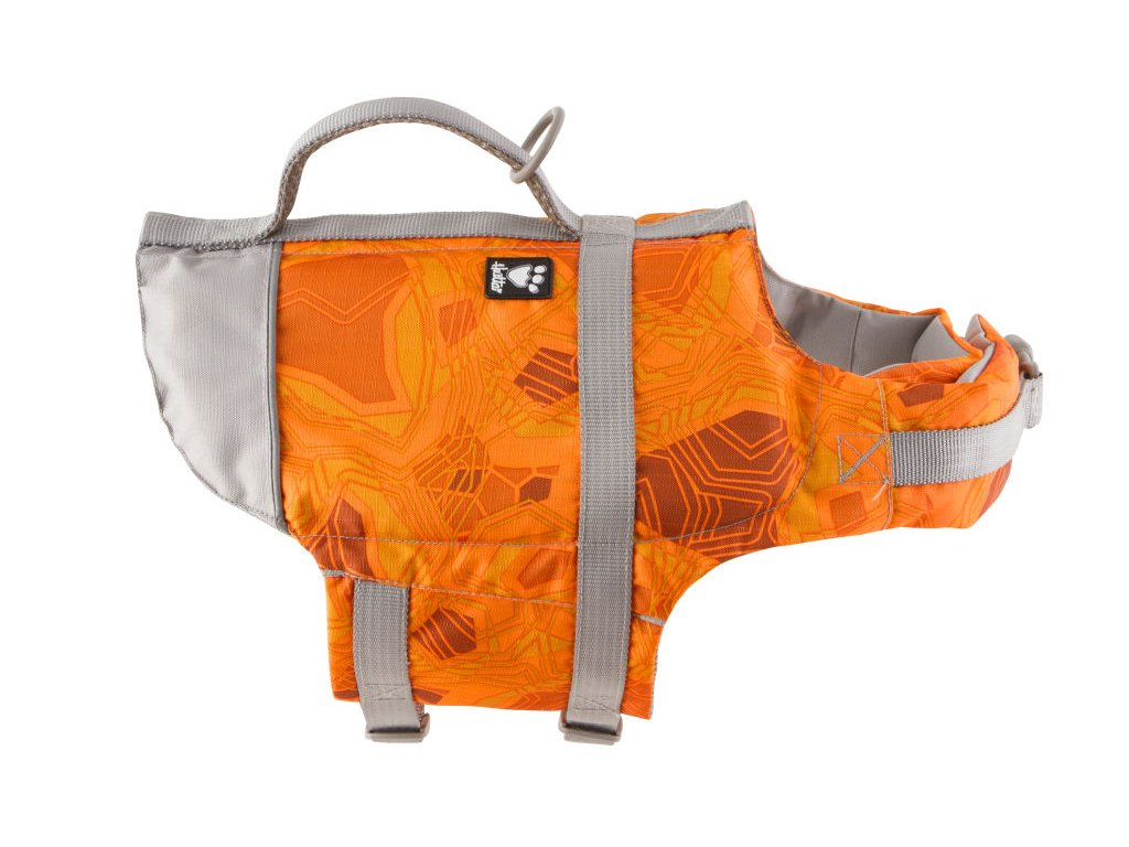 Vesta plavací Hurtta Life Savior oranžová camo