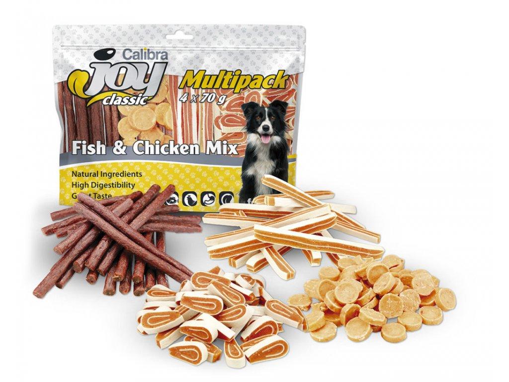 Calibra Joy Dog Multipack Fish & Chicken Mix 4x70g