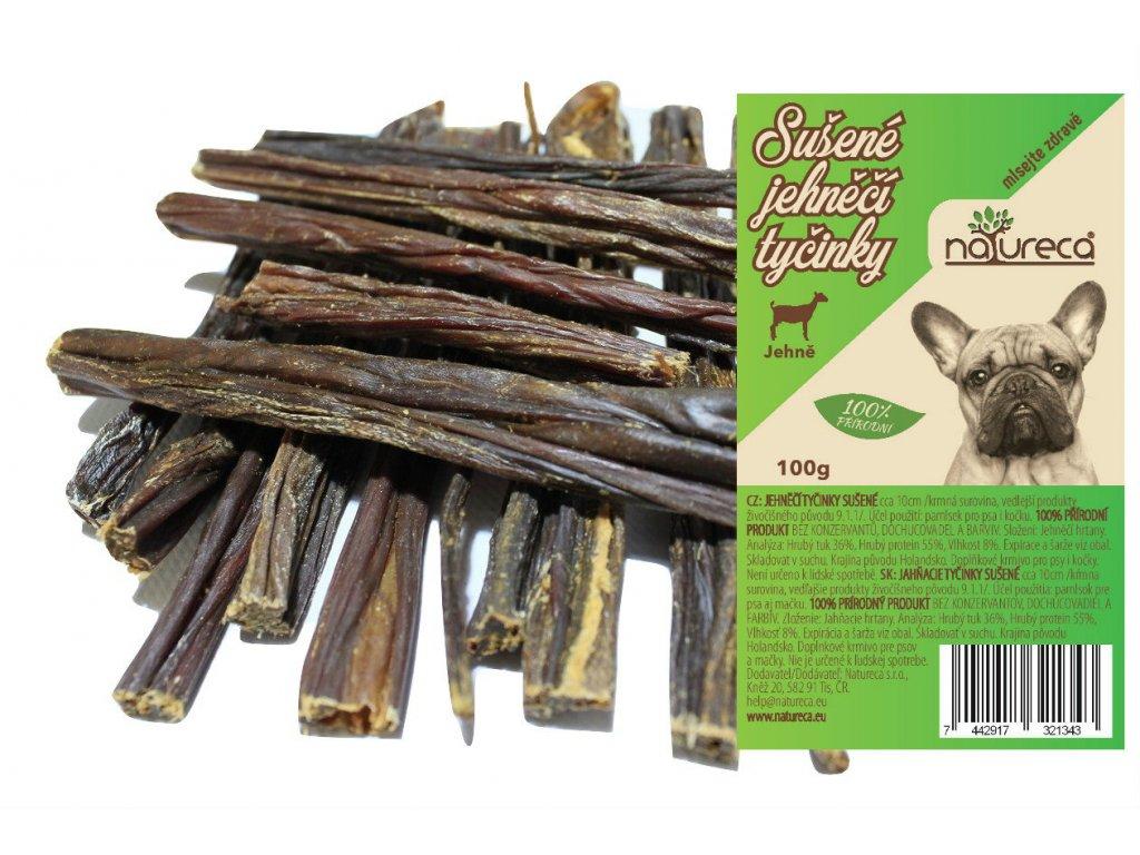 Natureca pochoutka jehněčí tyčinky sušené 100g