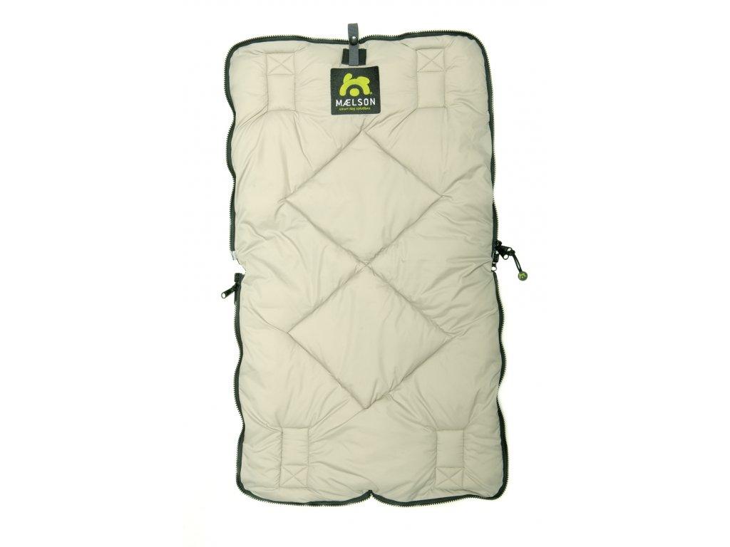 Maelson Cestovní deka - černo-béžová - 80 x 45 cm