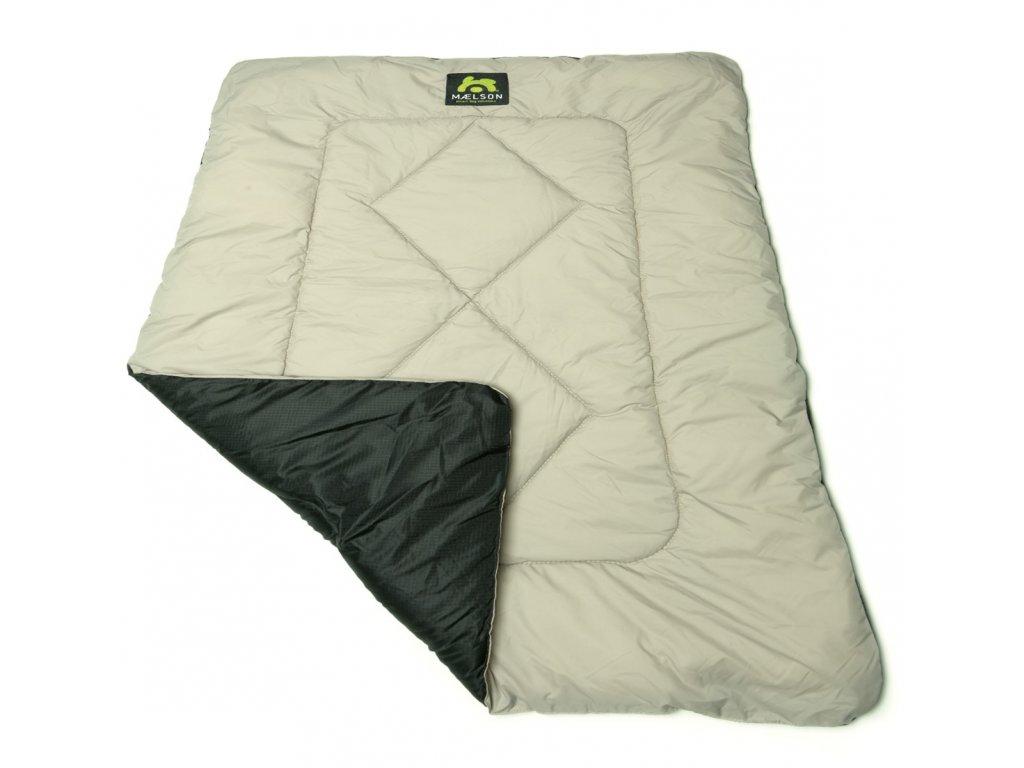 Maelson Cestovní deka - černo-béžová - 100 x 65 cm