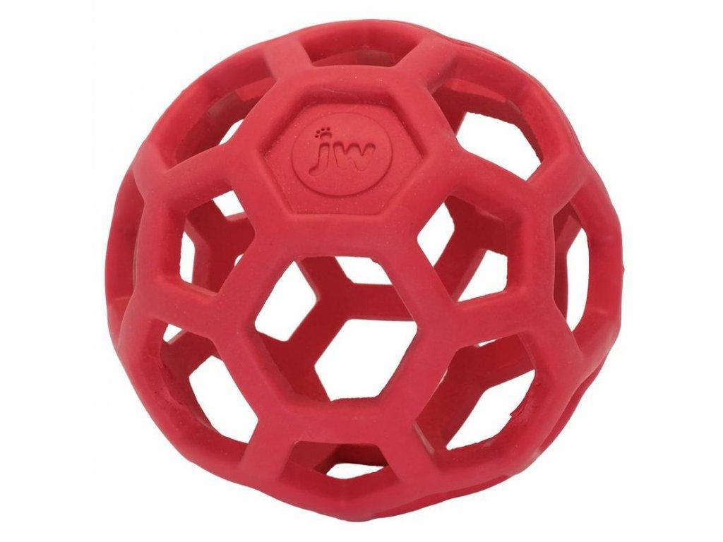 JW Hol-EE děrovaný míč červený