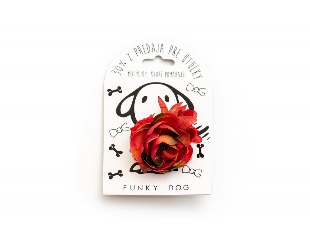 Funky Dog květinka velká červená