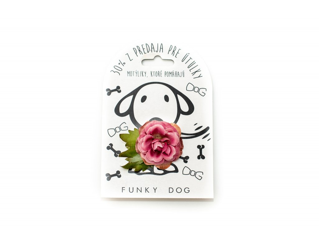 Funky Dog květinka malá růžová