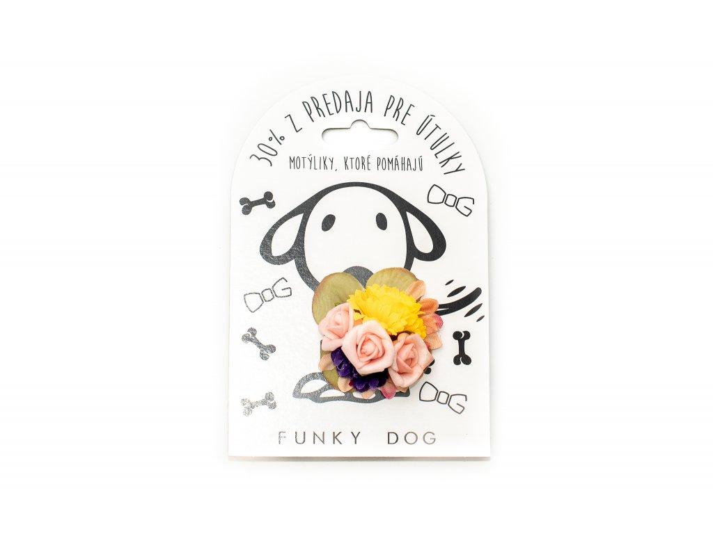 Funky Dog květinka malá žlutá