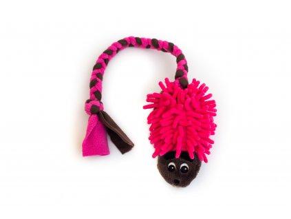 Plyšový ježek hnědo-růžový