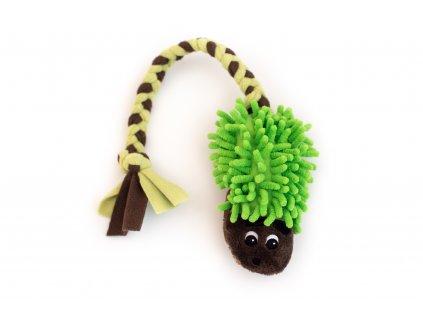Plyšový ježek hnědo-zelený