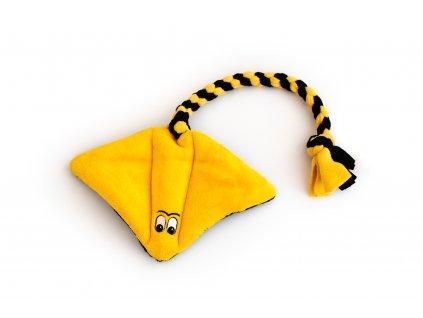 Plyšový rejnok velký žluto-černý