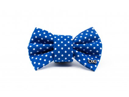 Funky Dog Motýlek modrý s malými tečkami
