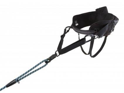 Pás Hurtta Hiker Belt černý 75 - 120 cm