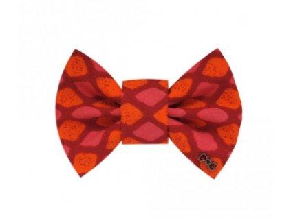 FD86 Funky Dog Motýlek indický oranžovo-růžový