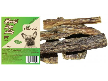 Natureca pochoutka hovězí jícen pláty sušené 250g