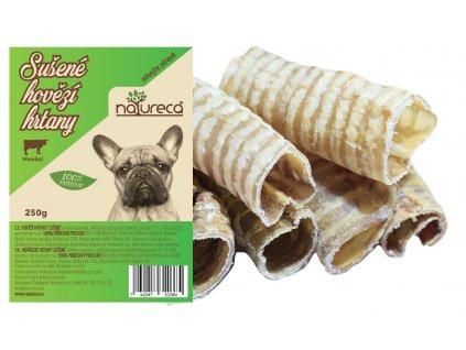 Natureca pochoutka hovězí hrtany sušené 250g