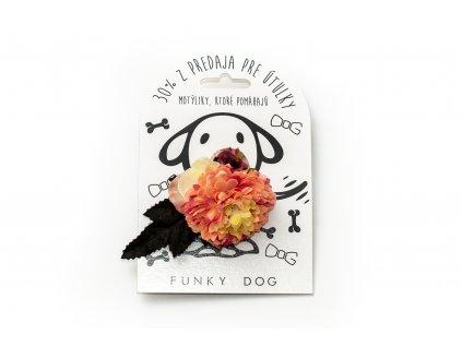 Funky Dog květinka velká světle růžová