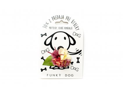 Funky Dog květinka malá růžovo-bílá