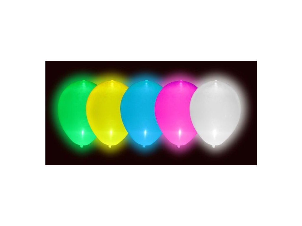 73735cc6df1b LED Svítící balónky 5 ks mix barev - Ptákoviny-CB
