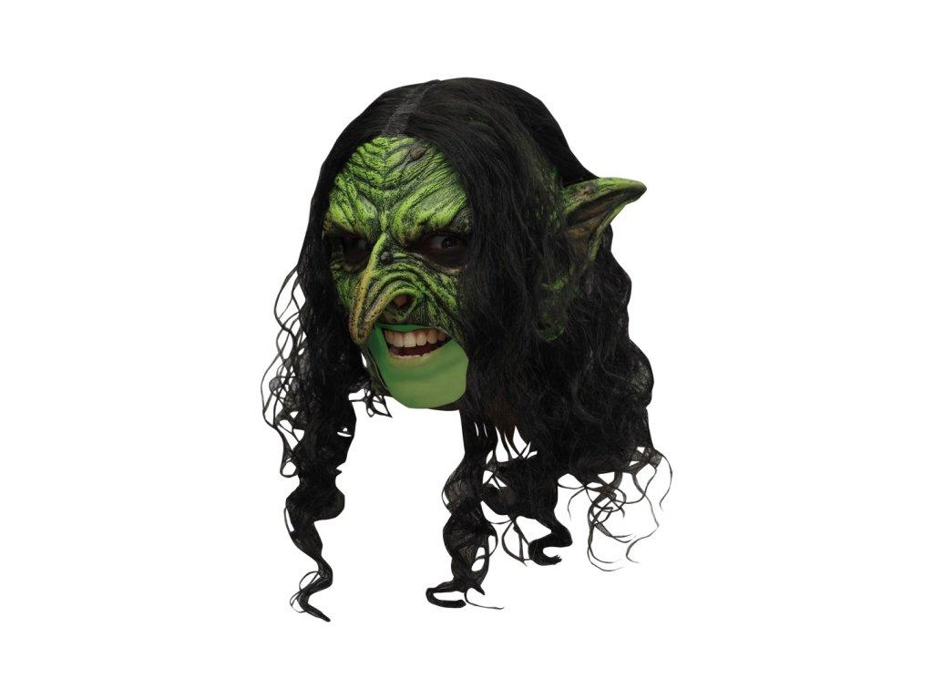 Maska čarodějnice s vlasy