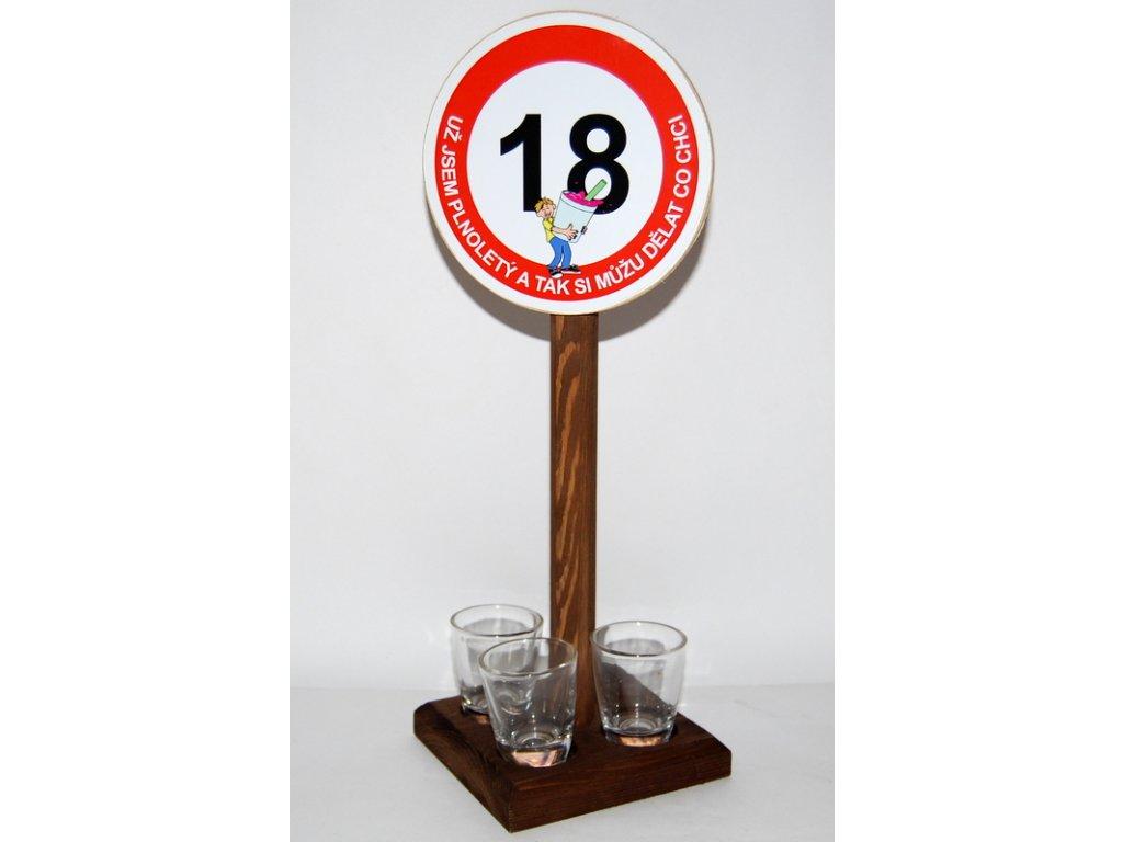 Značka se 3 panákama k výročí narození