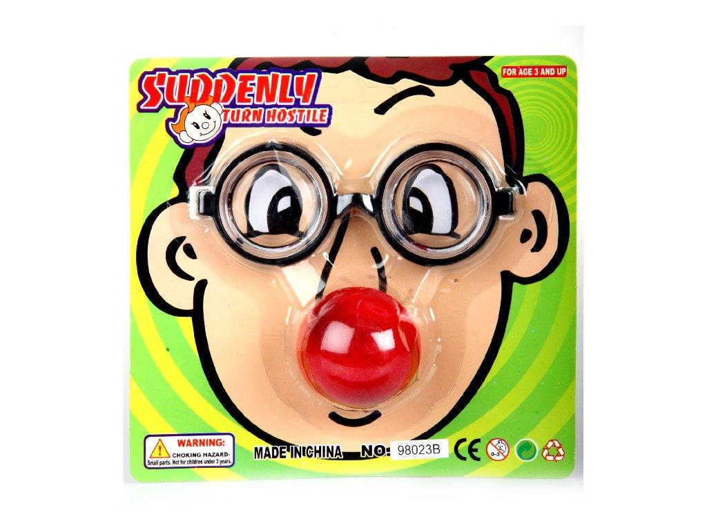bryle dioptricke nos klaun