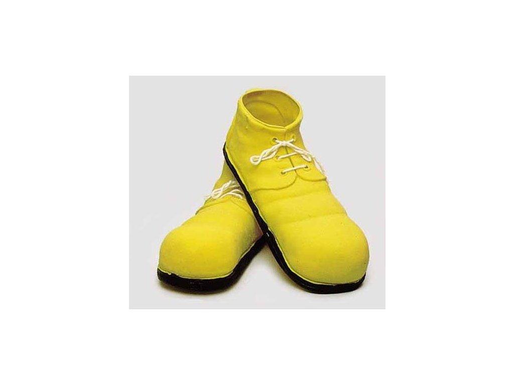 Klaunske boty zlute