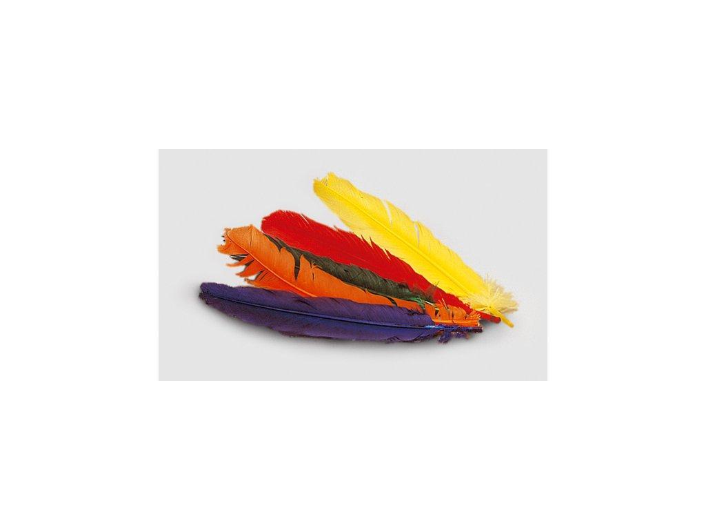 brka pera barevna