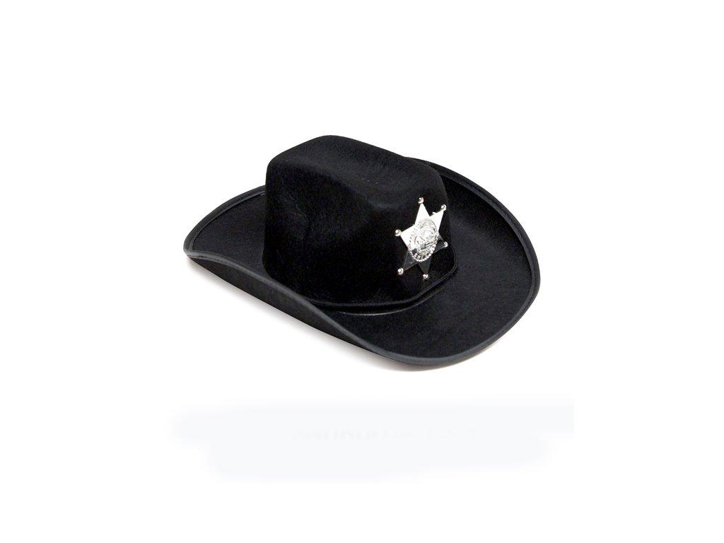 klobouk kovboj cerny