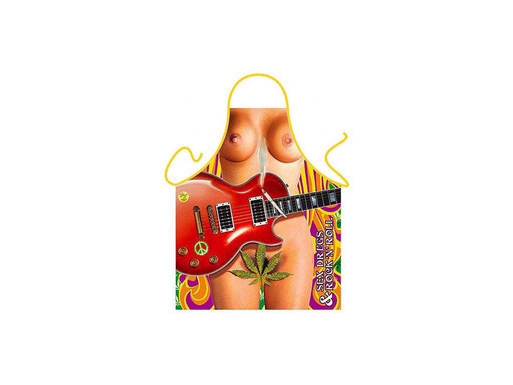 zastera zena kytara