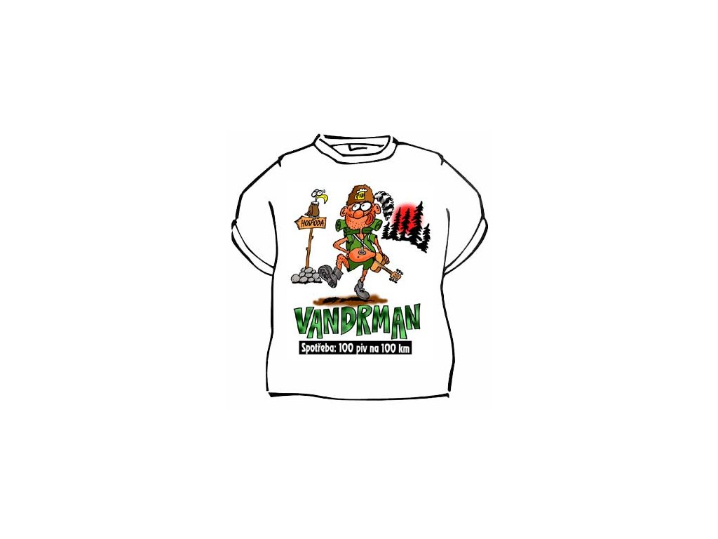Tričko - Vandrman