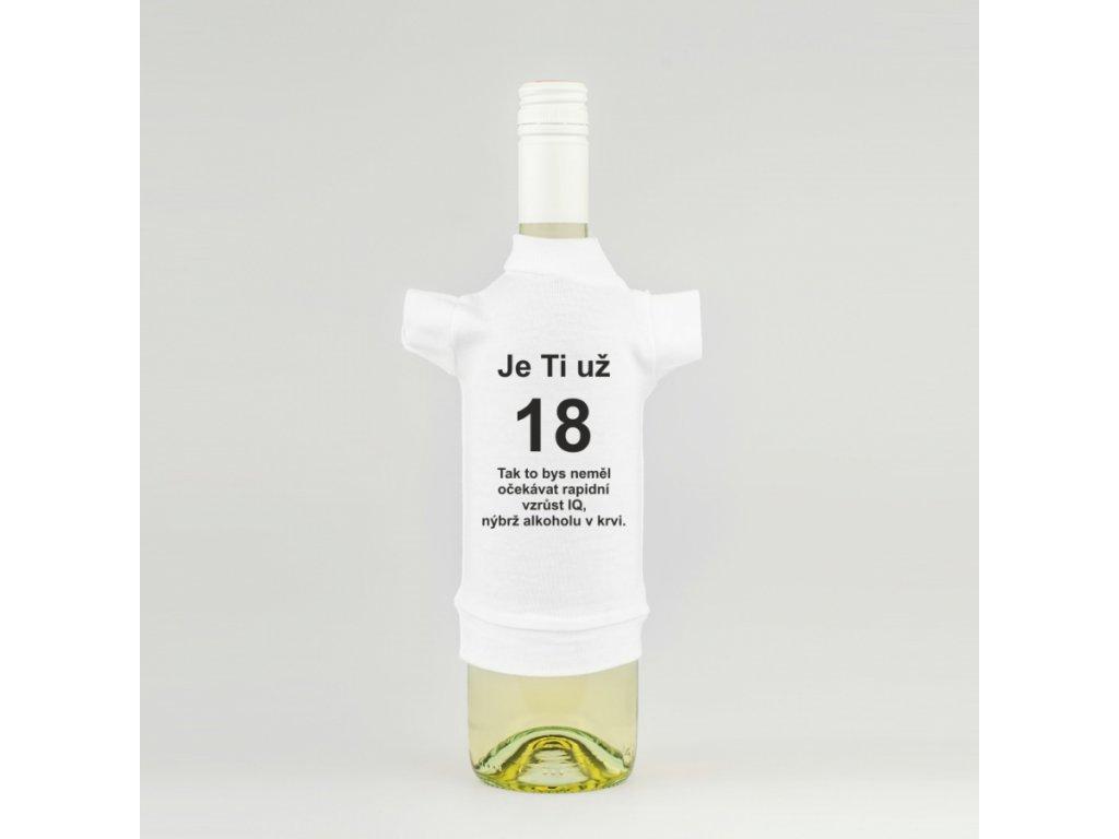 tricko na lahev 18 narozeniny