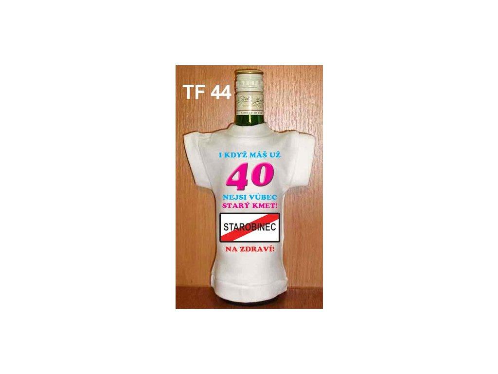 tricko na flasku 40 narozeniny