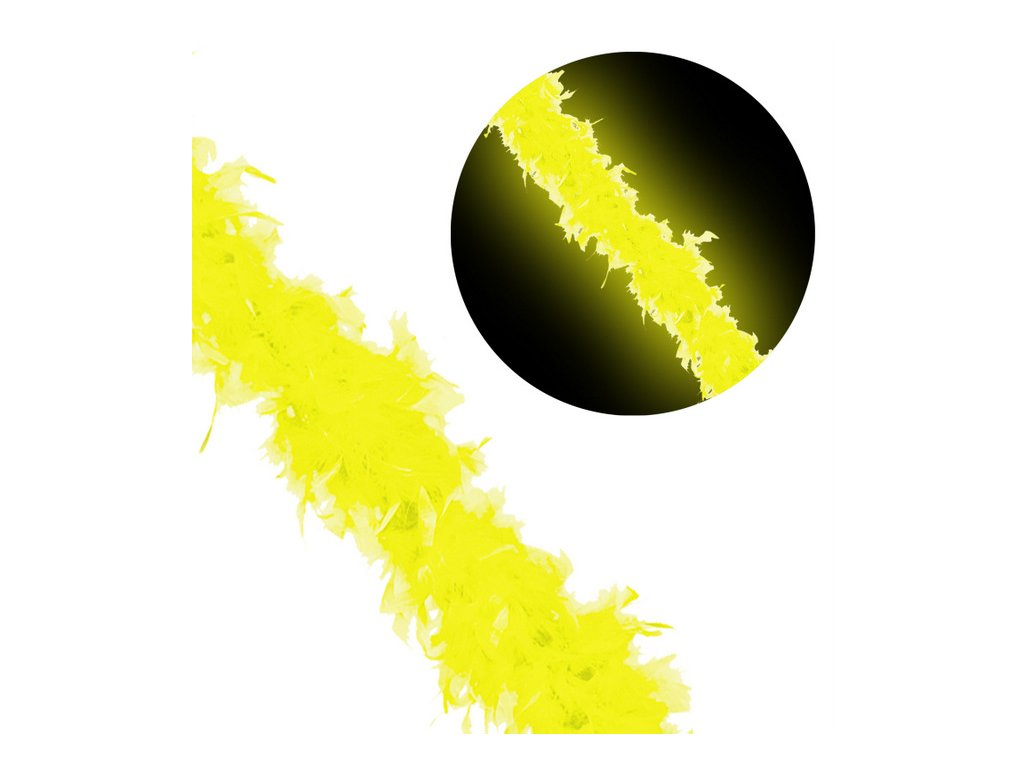 Boa neon zlute