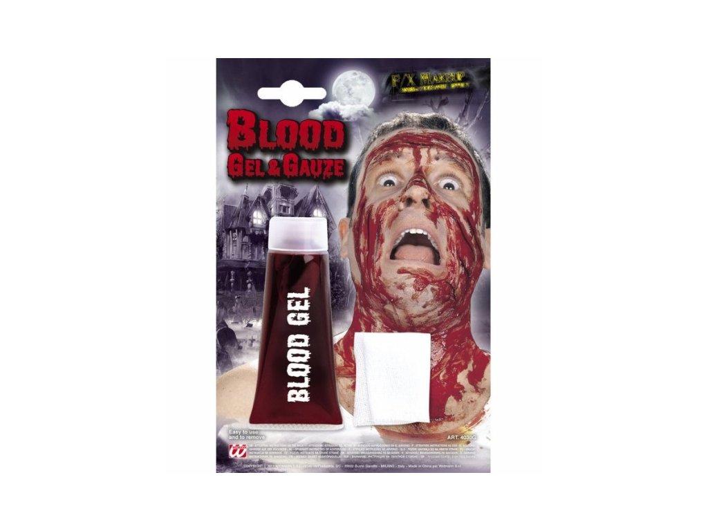 krev gel s gazou