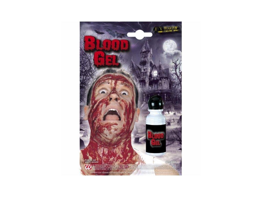 krev gel v lahvicce